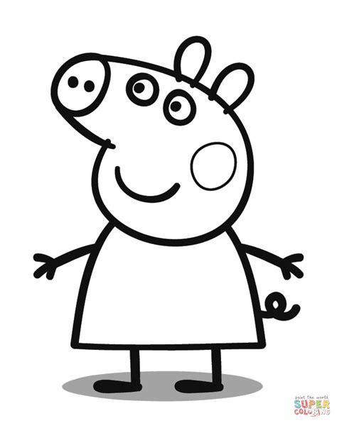 peppa pig cartoon coloring pages peppa pig coloring page free printable coloring pages