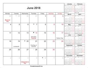 2018 Calendar For June June 2018 Calendar Printable With Holidays Pdf And Jpg