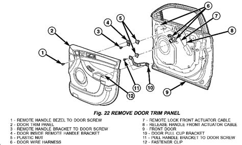 car door lock parts diagram 2004 chrysler pacifica awd door locks unlock must