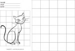 Grid Drawings Templates by Drawing With Grids Activity Sitting Cat By