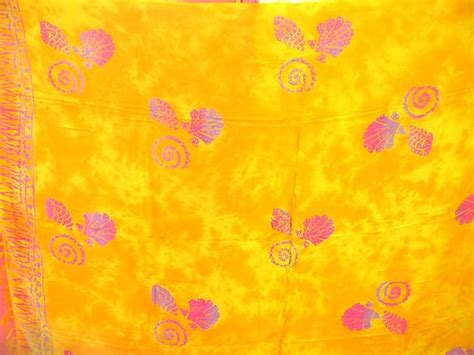 flower pattern tie dye online warehouse wholesale tie dye yellow sarong with
