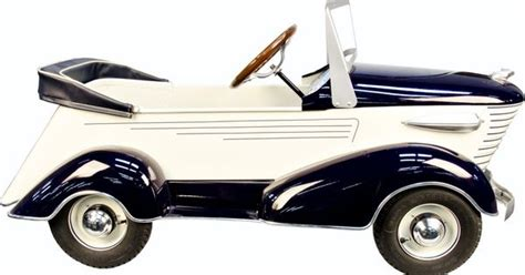 deco pedal cars blue white sharknose graham pedal car by the ame deco streamline peddle cars