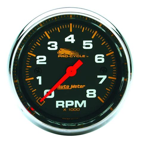 Rpm Tachometer Sct 1205 auto meter pro cycle gauges universal lightning motorsports selling speed since 1996