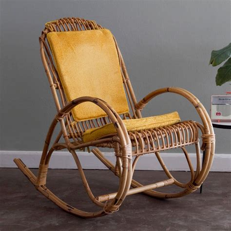 Gold Rocking Chair Cushions 1000 images about rattan and bamboo furniture on