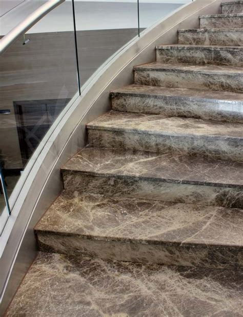 marble stairs mekmar stair treads all emperador marble stairs