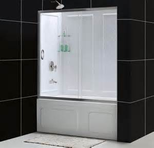 infinity sliding tub door and qwall tub kit