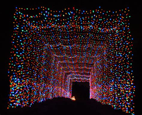 a country christmas through a tunnel of lights 187 urban