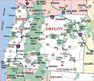driving map of oregon road map of oregon