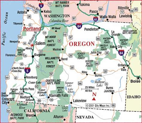 map of oregon roads road map of oregon