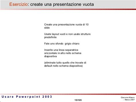 cornici powerpoint usare powerpoint 2003