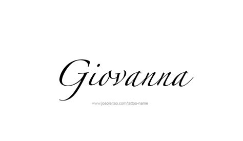 giovanna name tattoo designs