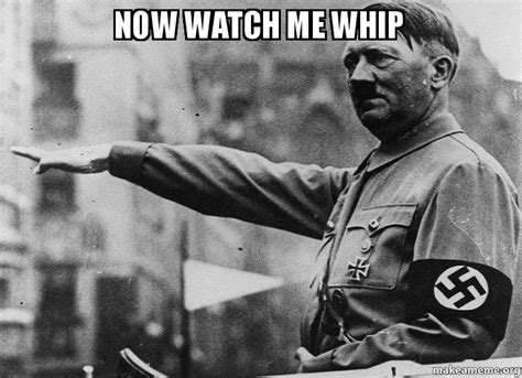 now watch me whip make a meme