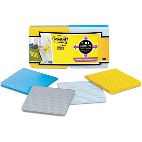 Ac 3 4 Pk Gree post it sticky removable note tabs 3 3 8 quot x 2 75 quot 25 pad 2 pads pack green blue