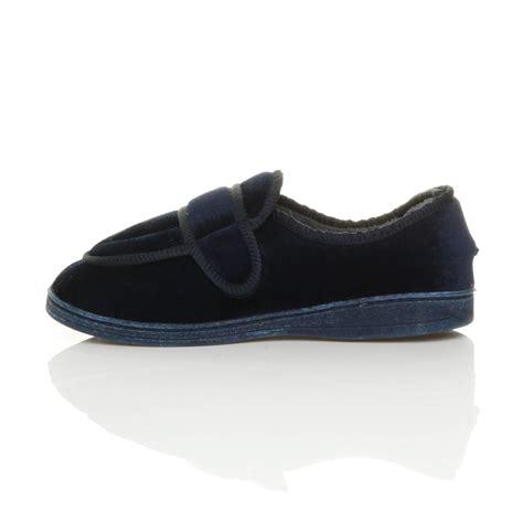 orthopedic house slippers mens diabetic orthopaedic memory foam wide fit adjustable