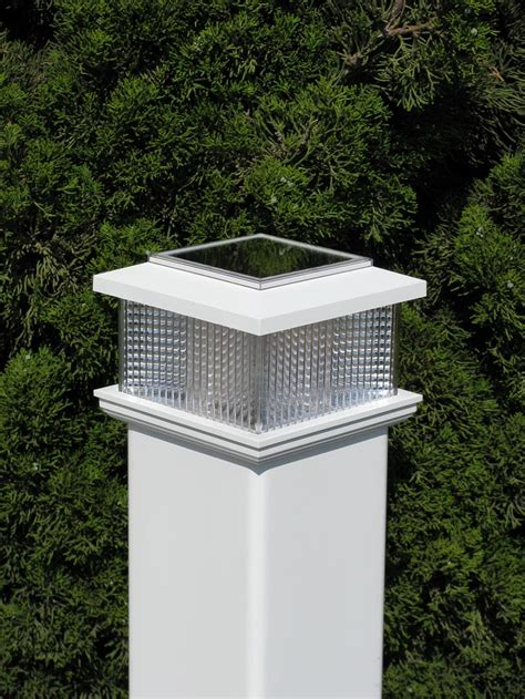 chain link fence solar lights vinyl post caps archives fence factory