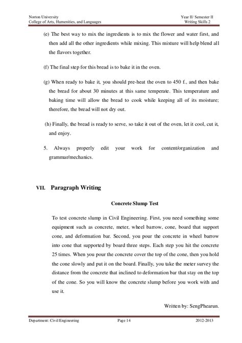 Process Analysis Paragraph by Process Analysis Paragraph