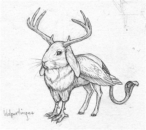 how to draw doodle creatures cara blogs wolpertinger