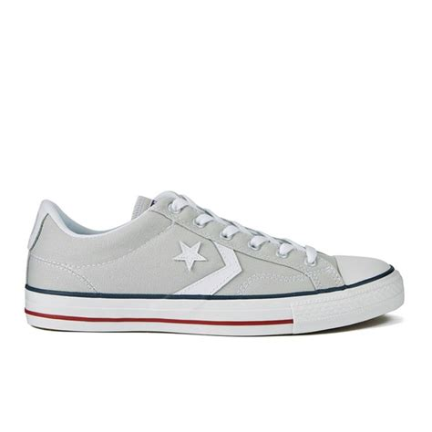 Converse Cons Player Grey converse cons s player canvas trainers cloud