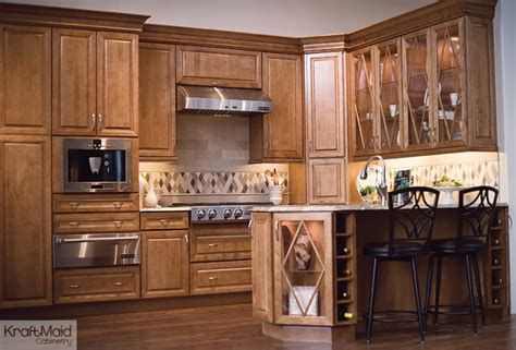 kitchen cabinet jackson kraftmaid maple cabinetry in praline traditional