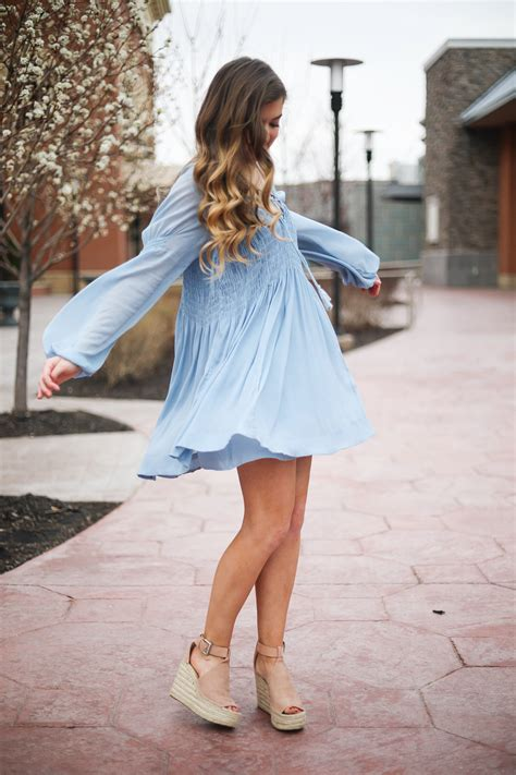 Sandal Wedges Flowy the prettiest flowy light blue dress up on the paired with marc fisher wedges and lisi