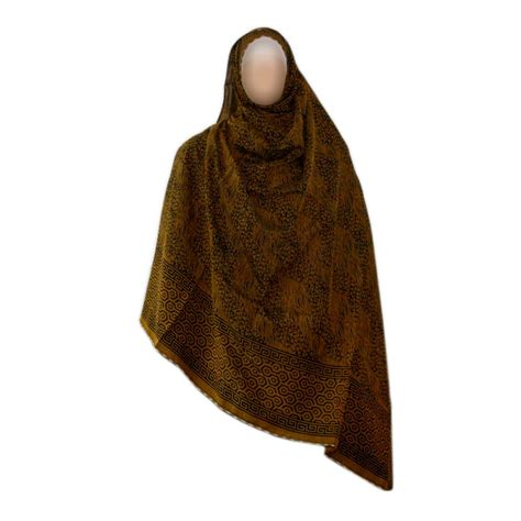 brown pattern scarf shayla hijab scarf with pattern in brown kst 14 2