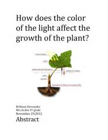 how does the color of the light affect the growth of a plant