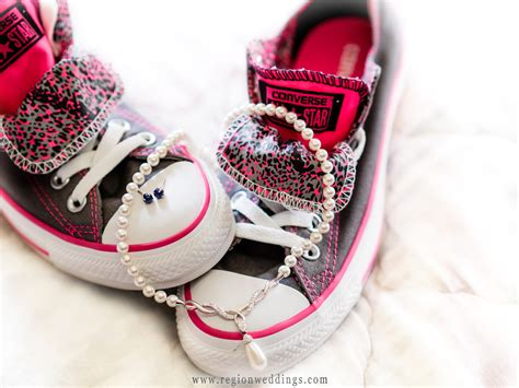 Decorated Converse by Wedding At The Palace In Lynwood Illinois