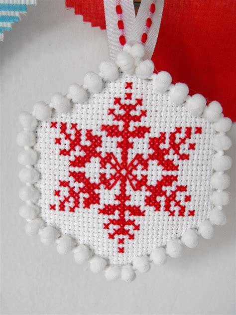 ruby murrays musings cross stitch christmas tree ornaments