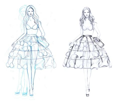 fashion sketchbook with templates illustration by marjolein caljouw fashion