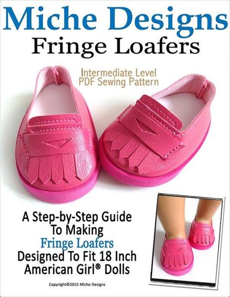 new design doll shoes miche designs fringe loafers doll clothes pattern 18 inch