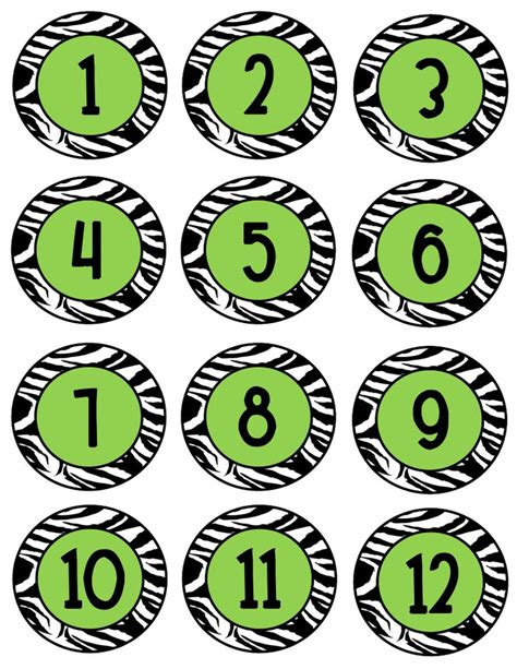 printable numbers on circles 203 best images about jungle theme on pinterest jungle