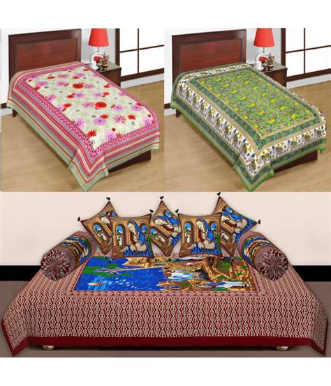 multicolor bedding bedding bazar single cotton multicolor printed bed sheet