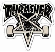 Autocollant Thrasher Skate  WebStickersMurauxcom