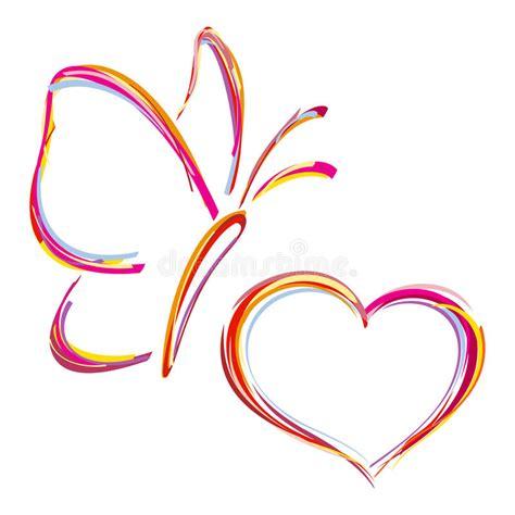 butterfly testo cuore e farfalla dipinti immagini stock libere da diritti