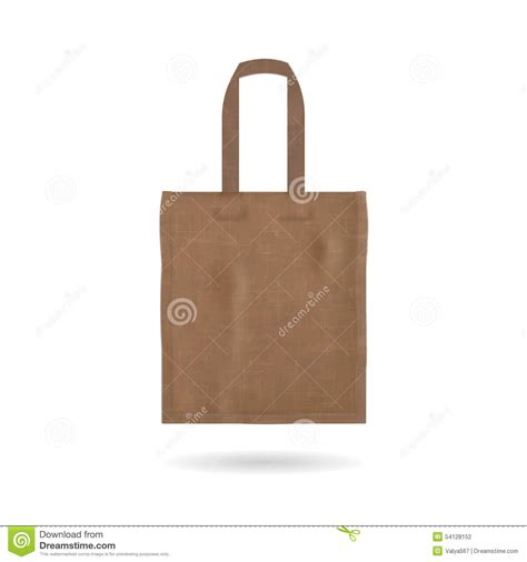 tote bag template blank tote bag template isolated stock vector
