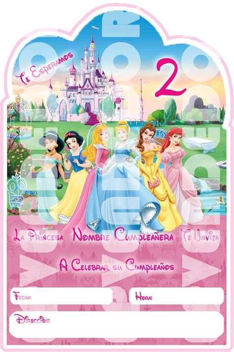 invitacion princesas disney pictures to pin on pinterest