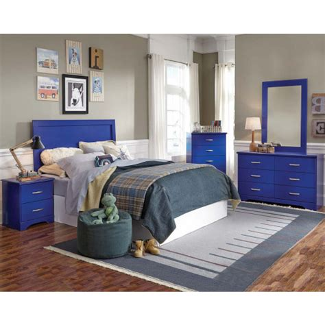 bedroom sets american freight bright blue three or five piece bedroom suite leo blue