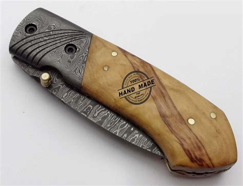 Damascus Steel Kitchen Knives Damascus Folding Liner Lock Knife Custom Handmade Damascus