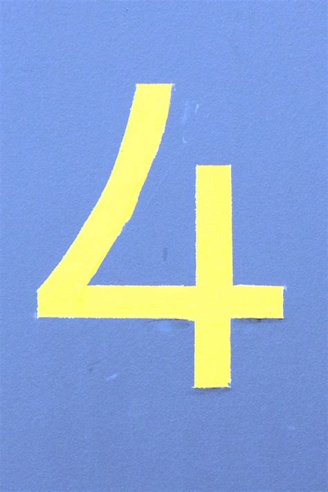 Number Four free photo number digit house number four free image