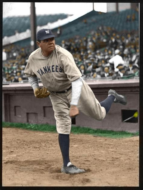ruth in color ruth ny yankees colorized 1929 sports