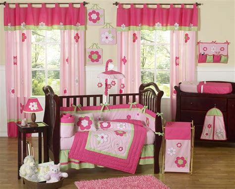 Pink And Green Crib Bedding Flower Pink And Green 9pc Crib Bedding Set Townhouse Linens