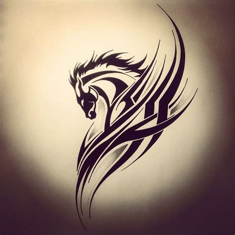 tribal tattoo horse ideas tribal animals tribal