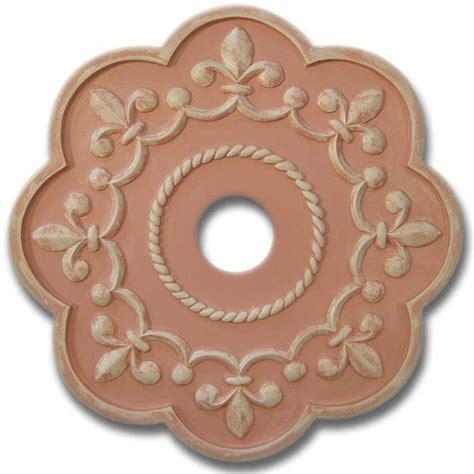Fleur De Lis Ceiling Medallion by Fleur De Lis Chandelier Medallion Distressed Pink By