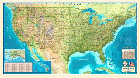 printable detailed map of the united states 8 best images of printable physical map of us us