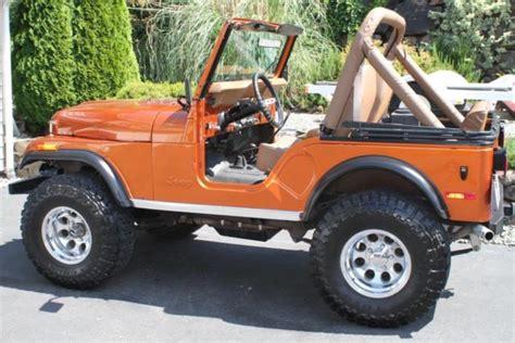 orange jeep cj 1979 jeep cj5 in corvette atomic orange v8 300 hp