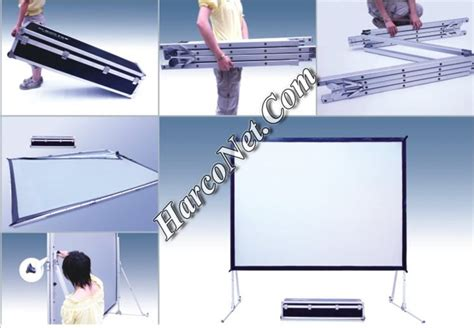 Proyektor Dan Screen jual layar proyektor fastfold screen tembak depan belakang front rear toko projector jakarta