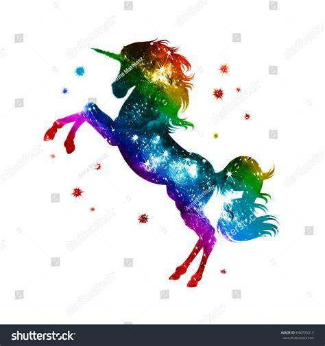 On Jumps Fantasi Pink rainbow unicorn colorful stock illustration 644703313