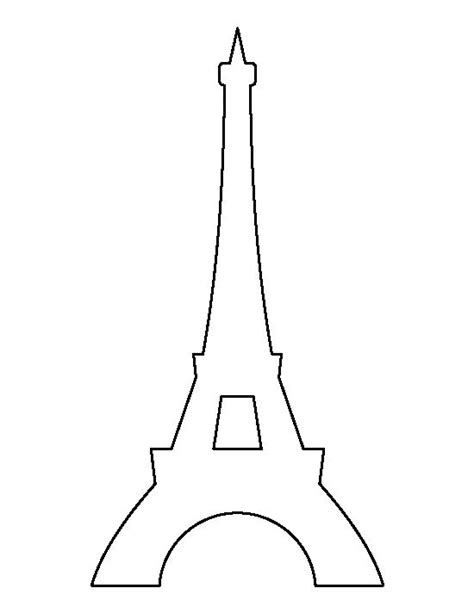 eiffel tower template eiffel tower pattern use the printable outline for crafts