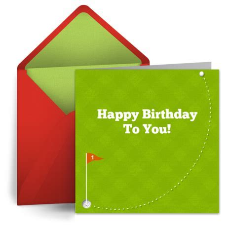 Happy Birthday Golf   Free Birthday Card for Him, Happy