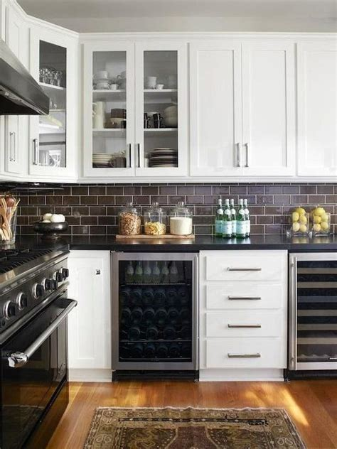 brown subway tile backsplash 35 ways to use subway tiles in the kitchen digsdigs